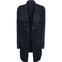Kardigany damskie: Urban Classics Ladies Knitted Long Cape Sweter rozpinany damski czarny