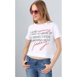 T-shirt Biały BB20098. Białe t-shirty damskie Fasardi, l. Za 19,00 zł.