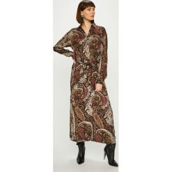 Answear - Sukienka NOMAD. Szare długie sukienki marki ANSWEAR, na co dzień, l, w paski, z wiskozy, casualowe, proste. Za 239,90 zł.