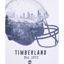 Timberland KURZARM BASEBALL Tshirt z nadrukiem weiß. Białe t-shirty chłopięce Timberland, z nadrukiem, z bawełny. Za 129,00 zł.