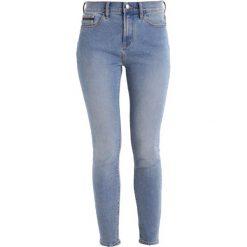 Calvin Klein Jeans HIGH RISE SKINNY ANKLE Jeans Skinny Fit bison blue. Niebieskie jeansy damskie Calvin Klein Jeans, z bawełny. W wyprzedaży za 359,20 zł.