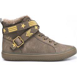S. Oliver - Botki. Szare buty zimowe damskie S.Oliver, z gumy, z okrągłym noskiem. W wyprzedaży za 119,90 zł.