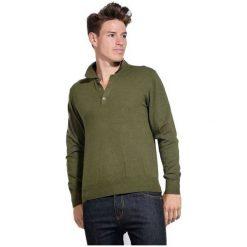 William De Faye Sweter Męski L Zielony. Zielone swetry klasyczne męskie marki William de Faye, l, z kaszmiru, z klasycznym kołnierzykiem. W wyprzedaży za 215,00 zł.