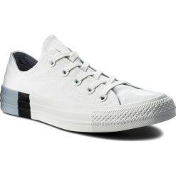 Trampki CONVERSE - Ctas Ox 159522C White/Glacier Grey/White. Białe tenisówki męskie Converse, z gumy. W wyprzedaży za 199,00 zł.