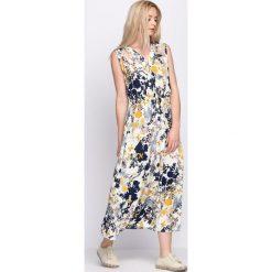 Sukienki: Kremowo-Żółta Sukienka Fashion Source