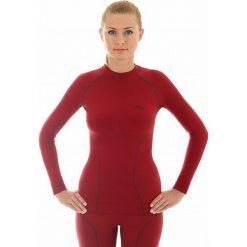 Bluzki sportowe damskie: Brubeck Koszulka damska Thermo burgundowy r. XL (LS10670)