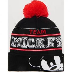 Czapka Mickey Mouse - Czarny. Czarne czapki zimowe męskie marki House, z motywem z bajki. Za 49,99 zł.
