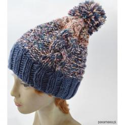 Czapka Wełniana Merino. Niebieskie czapki zimowe damskie marki WED'ZE, z materiału. Za 195,00 zł.