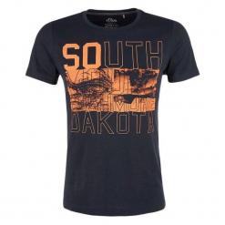 S.Oliver T-Shirt Męski Xl Ciemnoniebieski. Czarne t-shirty męskie z nadrukiem S.Oliver, m. Za 49,90 zł.