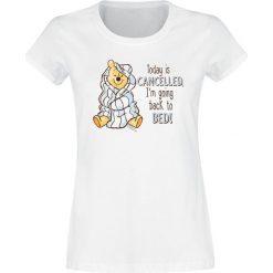 Kubuś Puchatek Back To Bed Koszulka damska biały. Białe bluzki asymetryczne Kubuś Puchatek, m, z motywem z bajki. Za 74,90 zł.