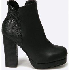 Big Star - Botki. Szare buty zimowe damskie marki BIG STAR, z materiału. W wyprzedaży za 119,90 zł.