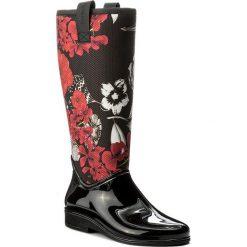 Buty zimowe damskie: Kalosze DESIGUAL – Rainy Boot 17WSTPA3 Czarny Kolorowy