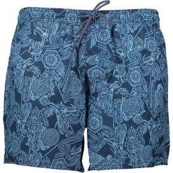 """Szorty kąpielowe """"Tropic"""" w kolorze niebieskim. Niebieskie szorty męskie marki Brunotti, m, z denimu. W wyprzedaży za 73,95 zł."""