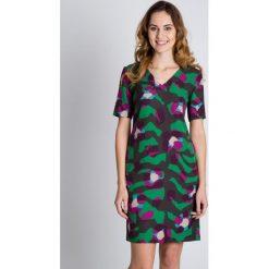 Sukienki: Trapezowa sukienka z krótkim rękawem BIALCON