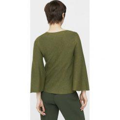 Mango - Sweter Fleare. Szare swetry klasyczne damskie Mango, l, z bawełny, z okrągłym kołnierzem. W wyprzedaży za 49,90 zł.