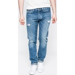 Calvin Klein Jeans - Jeansy. Niebieskie jeansy męskie z dziurami marki Calvin Klein Jeans. W wyprzedaży za 339,90 zł.