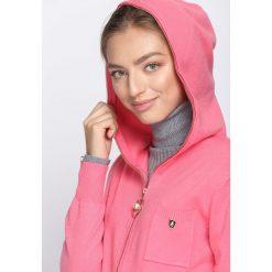 Różowy Kardigan It's Your Choice. Szare swetry klasyczne damskie marki Reserved, m, z kapturem. Za 74,99 zł.