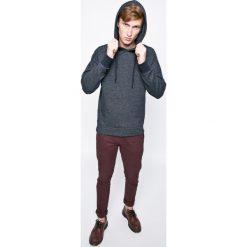 Jack & Jones - Bluza Owin. Czarne bluzy męskie rozpinane marki Jack & Jones, l, z bawełny, z okrągłym kołnierzem. W wyprzedaży za 89,90 zł.