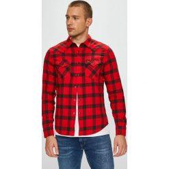 Lee - Koszula. Brązowe koszule męskie na spinki Lee, l, w kratkę, z bawełny, z włoskim kołnierzykiem, z długim rękawem. Za 199,90 zł.