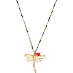 Pozłacany naszyjnik z elementem ozdobnym - dł. 81 cm. Żółte naszyjniki damskie Stylowa biżuteria, metalowe. W wyprzedaży za 86,95 zł.