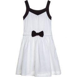 Sukienki dziewczęce z falbanami: Catimini GRAPHIC CITY ROBE  Sukienka koktajlowa blanc