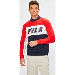 Fila - Bluza. Szare bluzy męskie rozpinane Fila, l, z nadrukiem, z bawełny, bez kaptura. W wyprzedaży za 279,90 zł.