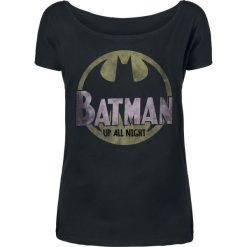 Batman Up All Night Koszulka damska czarny. Czarne bluzki asymetryczne Batman, xs, z motywem z bajki. Za 62,90 zł.