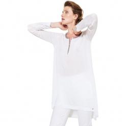 Tunika w kolorze białym. Białe tuniki damskie Simple, xs, z okrągłym kołnierzem. W wyprzedaży za 189,95 zł.