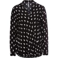 Bluzki damskie: Bluzka kopertowa bonprix czarno-biały