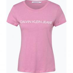 Calvin Klein Jeans - T-shirt damski, różowy. Czerwone t-shirty damskie marki Calvin Klein Jeans, m, z dżerseju. Za 129,95 zł.
