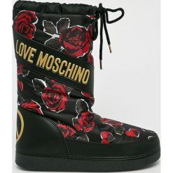 Love Moschino - Śniegowce. Czarne śniegowce damskie Love Moschino, z gumy. Za 679,90 zł.