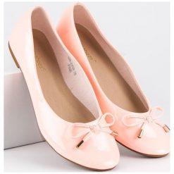 Baleriny damskie: Lakierowane różowe baleriny IDEAL SHOES różowe