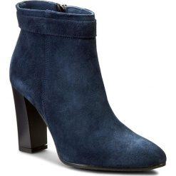 Botki OLEKSY - 362/435 Granatowy. Szare buty zimowe damskie marki Oleksy, ze skóry. W wyprzedaży za 249,00 zł.