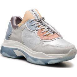 Sneakersy BRONX - 66167-K BX 1525 Off White/Nude/L.Blue 2379. Czarne sneakersy damskie marki Bronx, z materiału. W wyprzedaży za 419,00 zł.