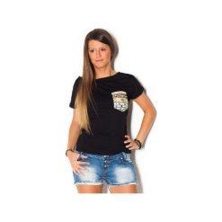 Damski T-shirt Simply Unique BLACK. Czarne t-shirty damskie beYOUnique, xs, w kolorowe wzory, z bawełny. Za 107,00 zł.