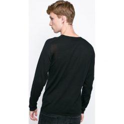 Jack & Jones - Sweter. Czarne swetry klasyczne męskie marki Jack & Jones, l, z bawełny, z okrągłym kołnierzem. W wyprzedaży za 89,90 zł.