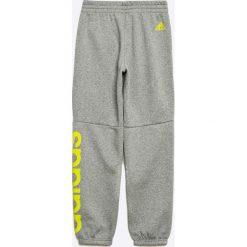 Adidas Performance - Spodnie dziecięce 128-176 cm. Szare spodnie chłopięce adidas Performance, z nadrukiem, z bawełny. W wyprzedaży za 99,90 zł.