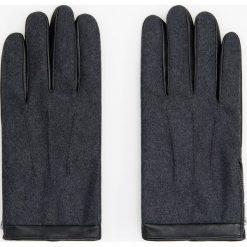 Rękawiczki z wełną - Szary. Szare rękawiczki męskie Reserved, z wełny. Za 99,99 zł.