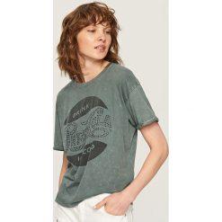 T-shirt PEPSI - Szary. Szare t-shirty damskie marki Reserved, l. Za 49,99 zł.