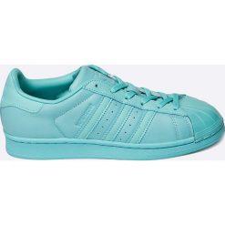 Adidas Originals - Buty Superstar Glossy. Szare buty sportowe damskie adidas Originals, z materiału. W wyprzedaży za 299,90 zł.