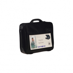 "Samsonite Classic ICT Office Case+ 15,6"". Czarne torby na laptopa marki Samsonite, w paski, z materiału. Za 199,00 zł."