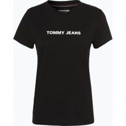 Tommy Jeans - T-shirt damski, czarny. Czarne t-shirty damskie Tommy Jeans, m, z jeansu. Za 99,95 zł.