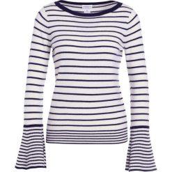 Club Monaco PORTUNA STRIPE Sweter navy/white. Białe swetry klasyczne damskie Club Monaco, z kaszmiru. W wyprzedaży za 463,60 zł.