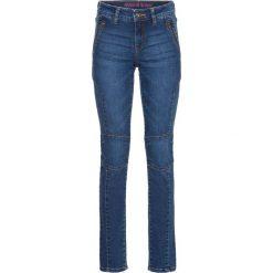 """Dżinsy Skinny z zamkami bonprix niebieski """"stone"""". Niebieskie jeansy damskie marki bonprix, z jeansu. Za 109,99 zł."""