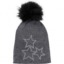 Czapka z pomponem bonprix czarny. Czarne czapki zimowe damskie marki bonprix. Za 49,99 zł.