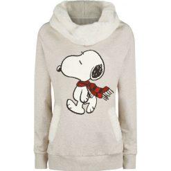 Fistaszki Snoopy Winter Bluza damska beżowy. Brązowe bluzy rozpinane damskie Fistaszki, m, z nadrukiem. Za 164,90 zł.