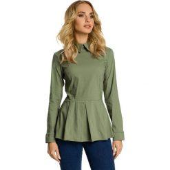 ELAYNA Koszula odcinana w talii - khaki. Zielone koszule damskie Moe, eleganckie. Za 119,00 zł.