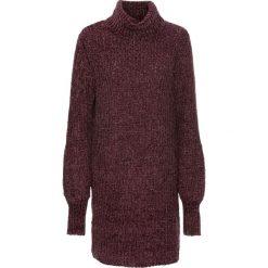 Sukienka dzianinowa z szenili: must have bonprix oberżyna. Fioletowe sukienki dzianinowe marki bonprix. Za 109,99 zł.