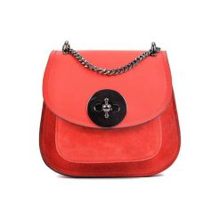 Torebki klasyczne damskie: Skórzana torebka w kolorze czerwonym – (S)19 x (W)16,5 x (G)10 cm