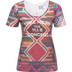 T-shirty damskie: Koszulka z kolorowym wzorem